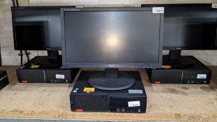 Lenovo desktop computer with Intel i3-6100 3.7GHz processor, 4Gb RAM, 500Gb hard drive, DVD-RW drive