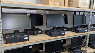 5 off Lenovo desktop computers with Intel i3-6100 3.7GHz processor, 4Gb RAM, 500Gb hard drive, DVD-R