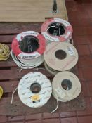 5 reels of assorted electrical cable