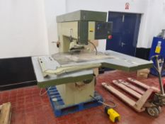 SCM R9 (A) pedestal router including foot pedal NB. This was used with a dedicated dust extractor, w