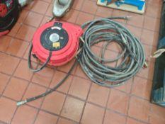 Redashe Reelworks hose reel air hose reel with 15m hose. This lot also includes quantity of air hose