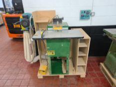 Castle model TSM-21 pocket screw/borer including foot pedal and Clarke Woodworker single bag dust ex