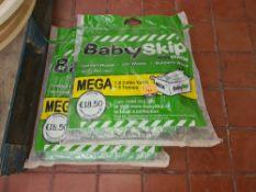2 off Babyskip Mega 1.5tonne/1.8 cu. yd fabric skips/skip bags