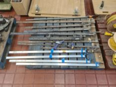 Contents of a pallet of long handled clamps & similar - pallet excluded