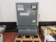 2008 Atlas Copco compressor, model GA11C/GA11FF (the front of the machine has a label stating model