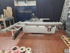 2018 Robland model NZ3200-3800 panel saw. NB. This was used with a dedicated dust extractor, which w