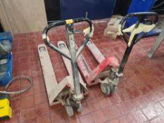 2 off Euro pallet trucks - both in need of repair