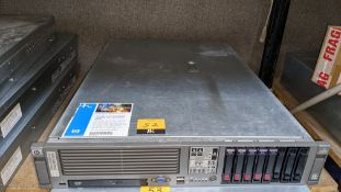 HP DL385 G2 rack mountable server with 1 off 146 & 4 off 36GB hard drives, 16GB RAM, 2 off AMD Dual