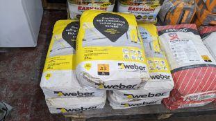 5 off 25kg sacks of Weber Premium self-smoothing industry top screed (Weberfloor Industry Pro Top 46