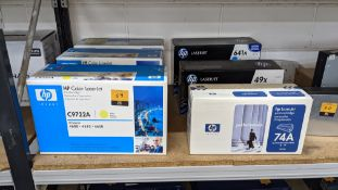 6 off assorted HP LaserJet cartridges as pictured