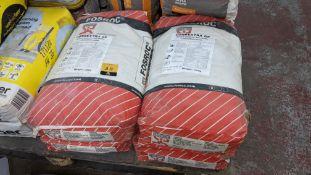 4 off 25kg sacks of Fosroc Conbextra GP general purpose non-shrink cementitious grout