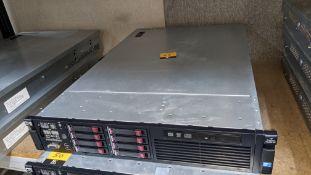 HP DL380 G7 rack mountable server with 8 off 146GB 15K hard drives, 32GB RAM, 2 off Xeon X5650 6 Cor