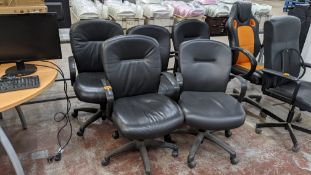 5 off matching leather exec chairs with arms
