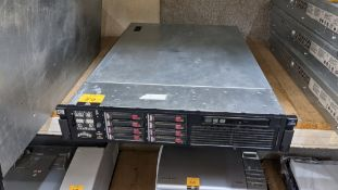 HP DL385 G6 rack mountable server with 8 off 146GB 10K hard drives, 32GB RAM, 2 off AMD 2435 6 Core