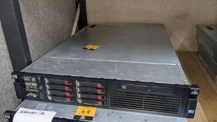 HP DL380 G7 rack mountable server with 8 off 146GB 10K hard drives, 32GB RAM, 2 off Xeon X5650 6 Cor