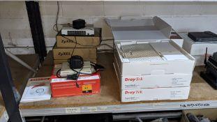 10 off modems, access points & similar by DrayTek, Zyxel & US Robitics