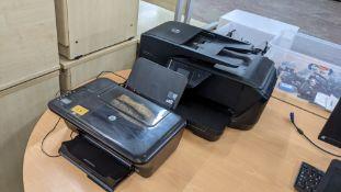 Pair of HP printers comprising HP OfficeJet 7510 printer/scanner/copier/fax & HP DeskJet 3050 printe