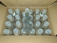 3 boxes containing a total of 432 travel size bottles of alcohol based hand sanitiser. Each bottle i