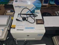 HP Color LaserJet Pro M254DW printer including box plus spare cartridge