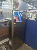 Angelo Po crystal stainless steel tall mobile commercial fridge