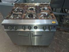 Falcon G3101 6-burner commercial oven (on wheels)