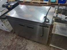 Parry stainless steel warming cupboard NB. Missing knob