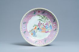 A Chinese famille rose charger, Qianlong mark, Republic