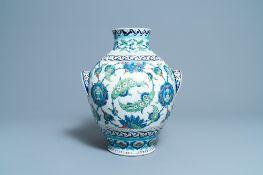 A large globular Iznik-style vase, Cantagalli, Italy, 19th C.