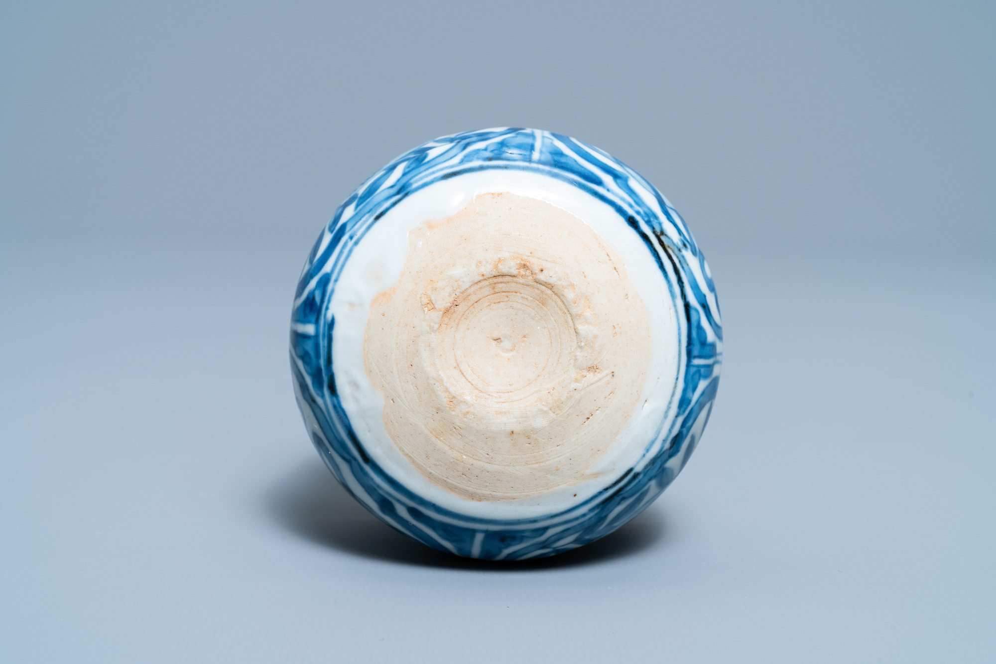 A small Chinese blue and white 'Taoist symbols' censer, Ming - Image 7 of 7