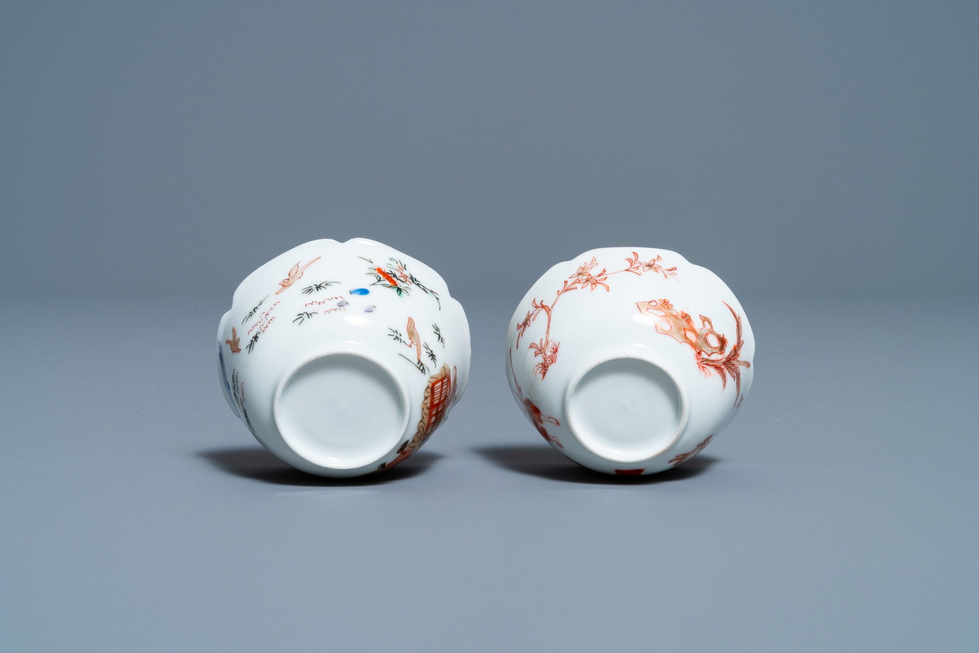 Two Chinese iron-red and gilt cups and saucers, Yongzheng - Image 9 of 9