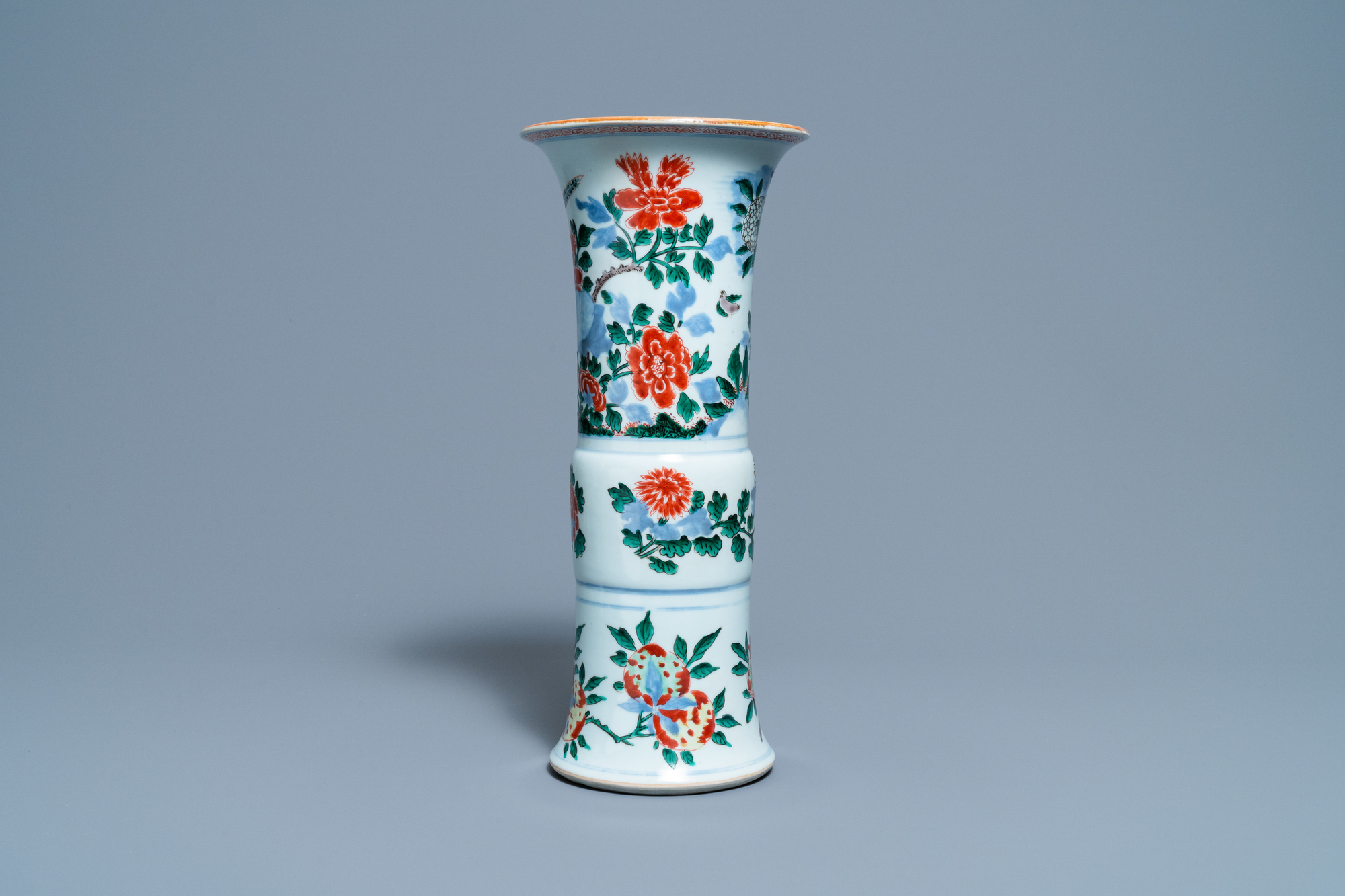 A Chinese wucai 'pheasant' vase, Transitional period - Image 3 of 6