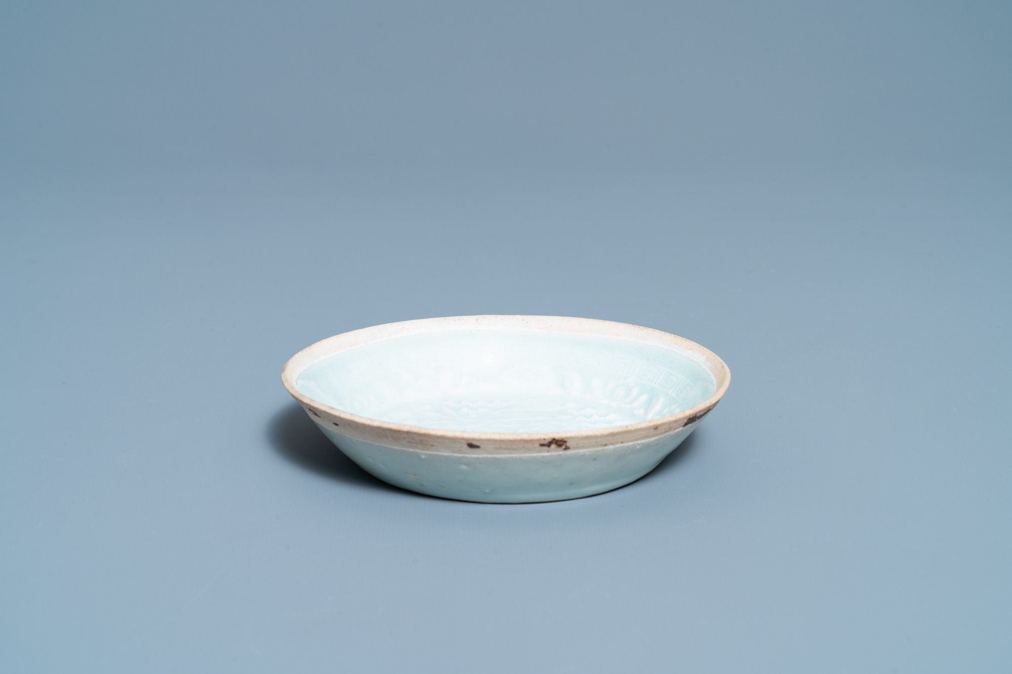 A Chinese qingbai molded 'fish' dish and a bowl with cover, Song/Yuan - Image 4 of 11