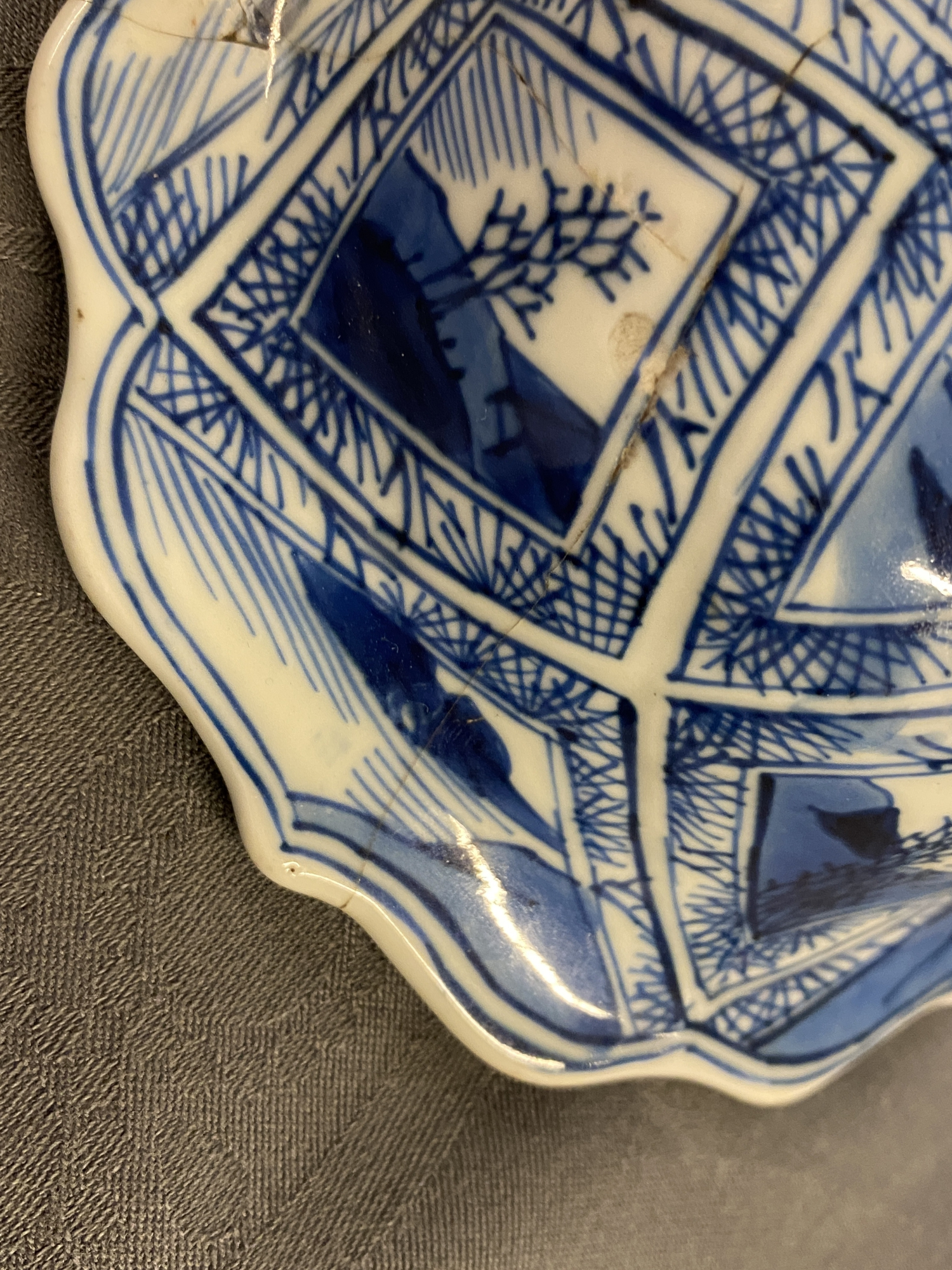 A large Chinese blue and white five-piece garniture with floral and landscape panels, Kangxi - Image 24 of 66