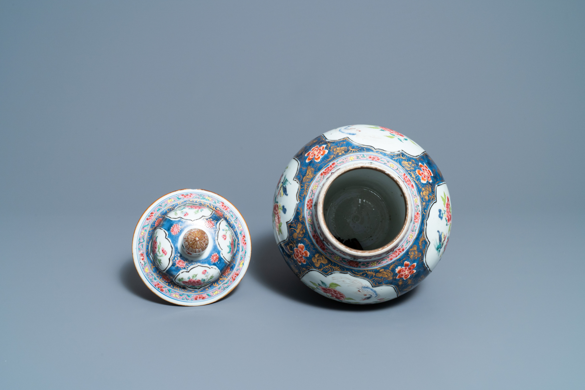 A Chinese famille rose vase and cover, Yongzheng - Image 6 of 7