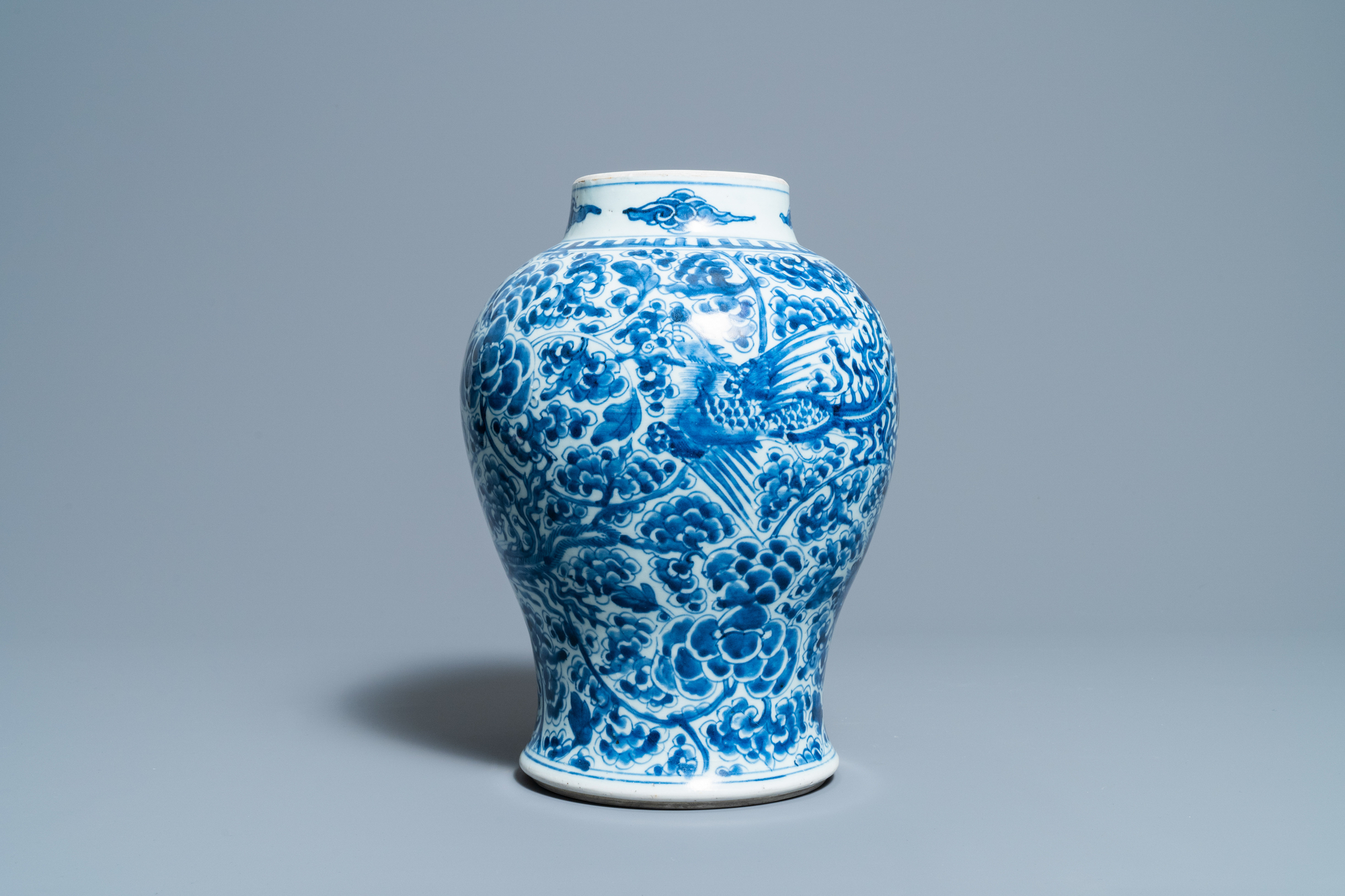 A Chinese blue and white 'phoenixes' vase, Kangxi