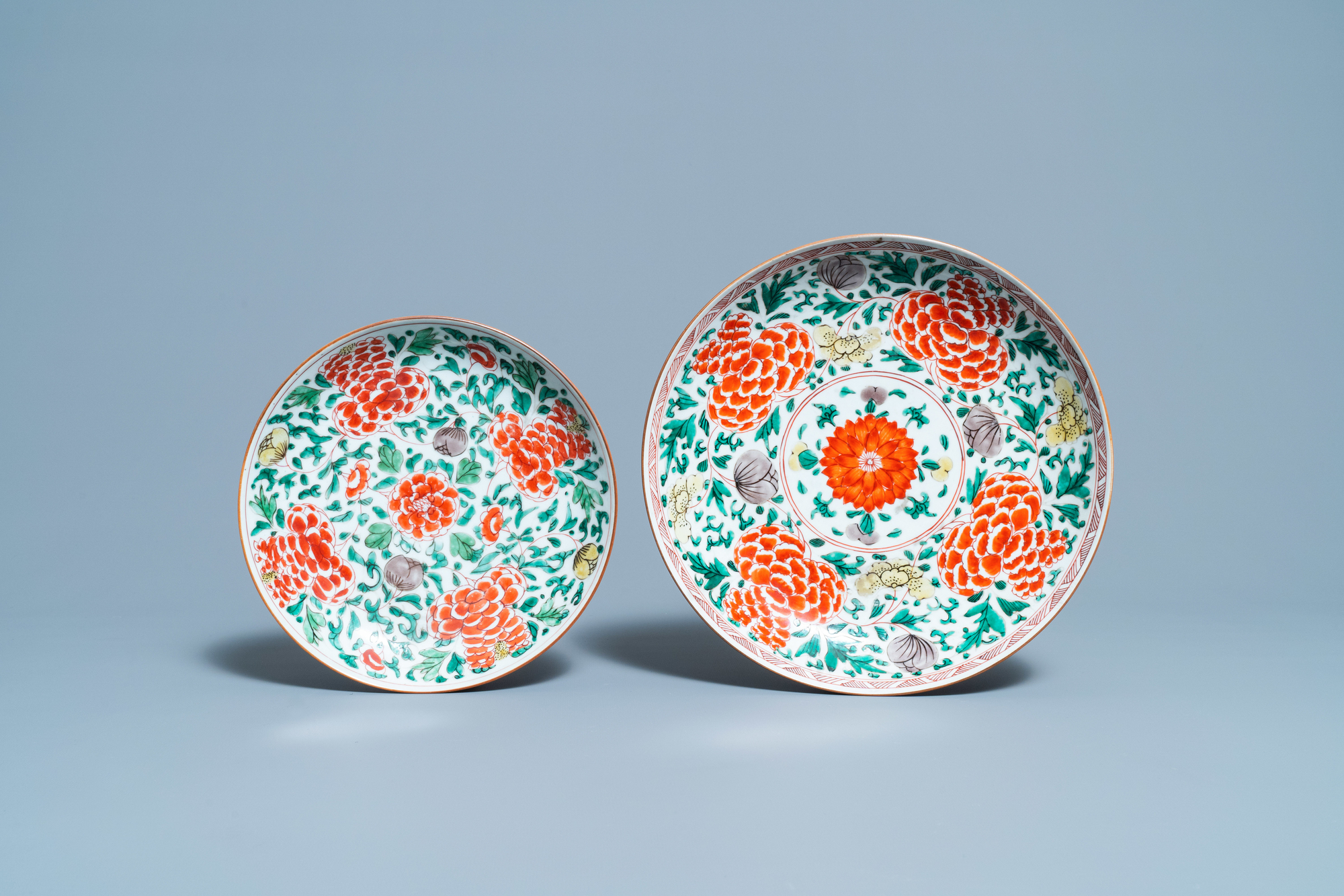 Four Chinese famille verte dishes, Kangxi - Image 4 of 5