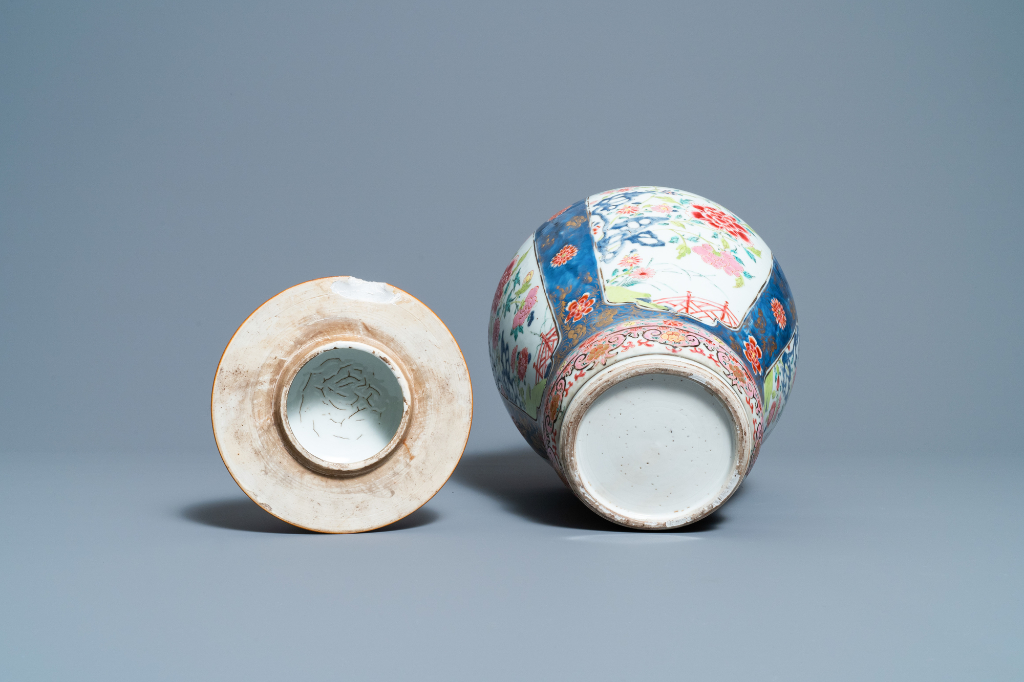 A Chinese famille rose vase and cover, Yongzheng - Image 7 of 7
