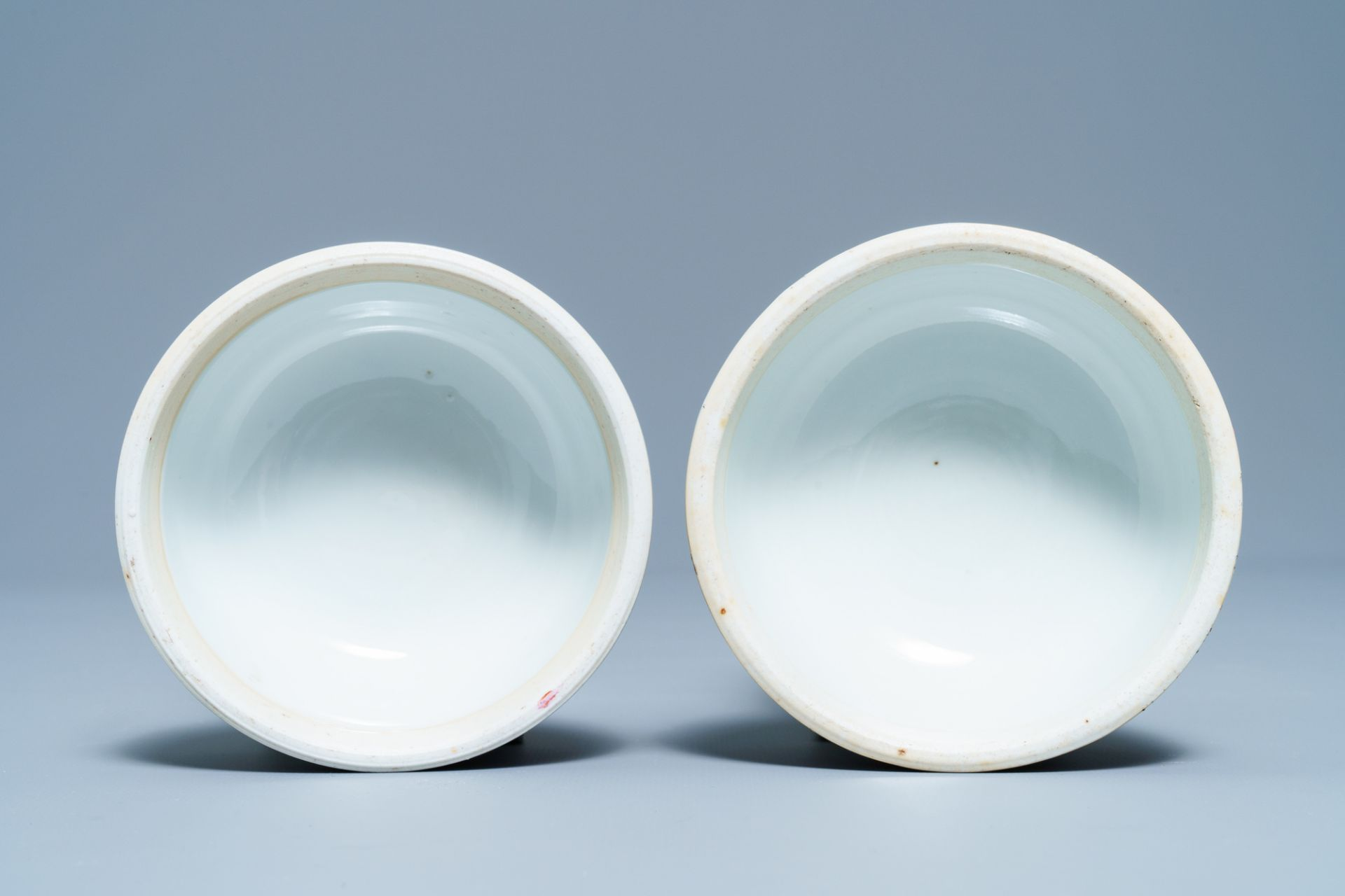 A pair of Chinese famille rose covered jars, Qianlong mark, Republic - Image 8 of 8