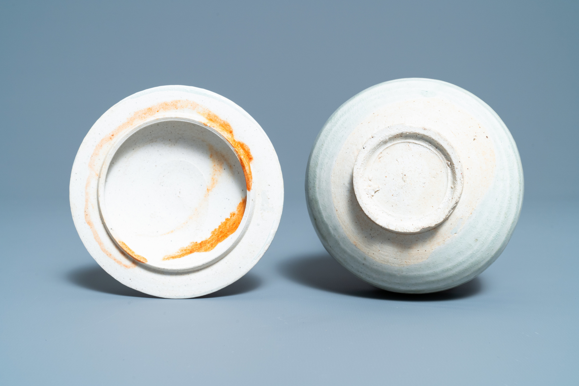 A Chinese qingbai molded 'fish' dish and a bowl with cover, Song/Yuan - Image 11 of 11