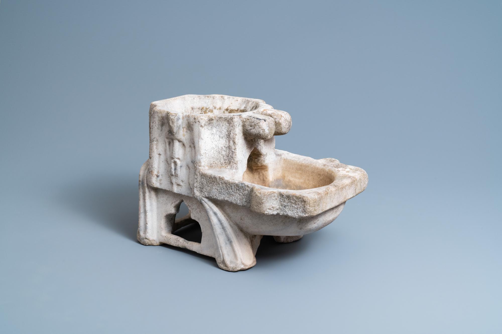 A Fatimid marble kilga, Egypt, 11/12th C.