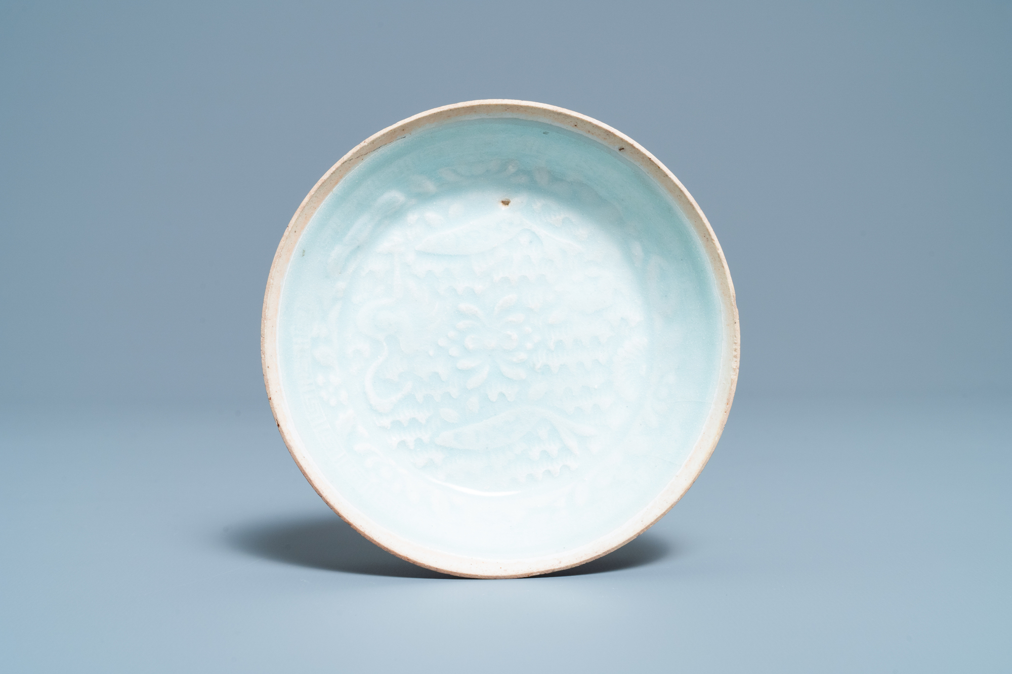 A Chinese qingbai molded 'fish' dish and a bowl with cover, Song/Yuan - Image 2 of 11