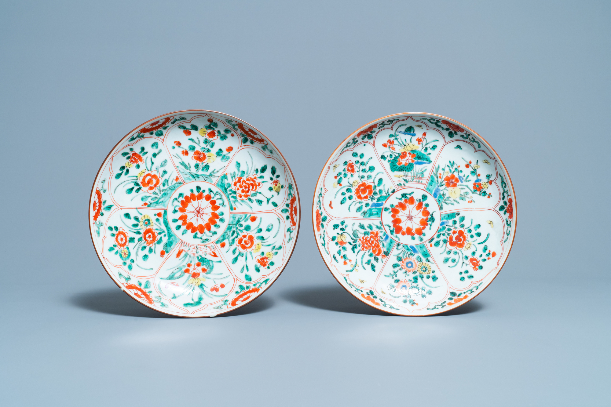 Four Chinese famille verte dishes, Kangxi - Image 2 of 5
