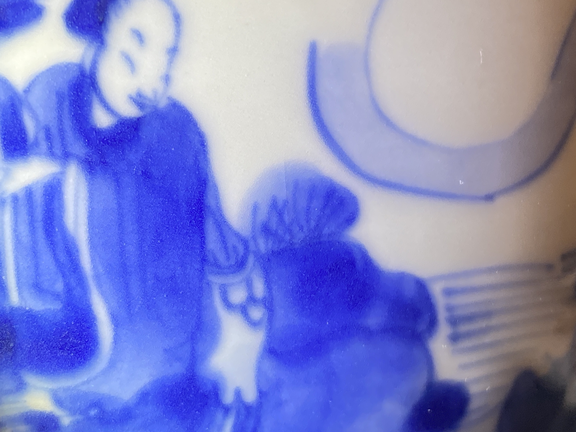 A Chinese blue and white 'immortals' bowl, Kangxi - Image 19 of 31