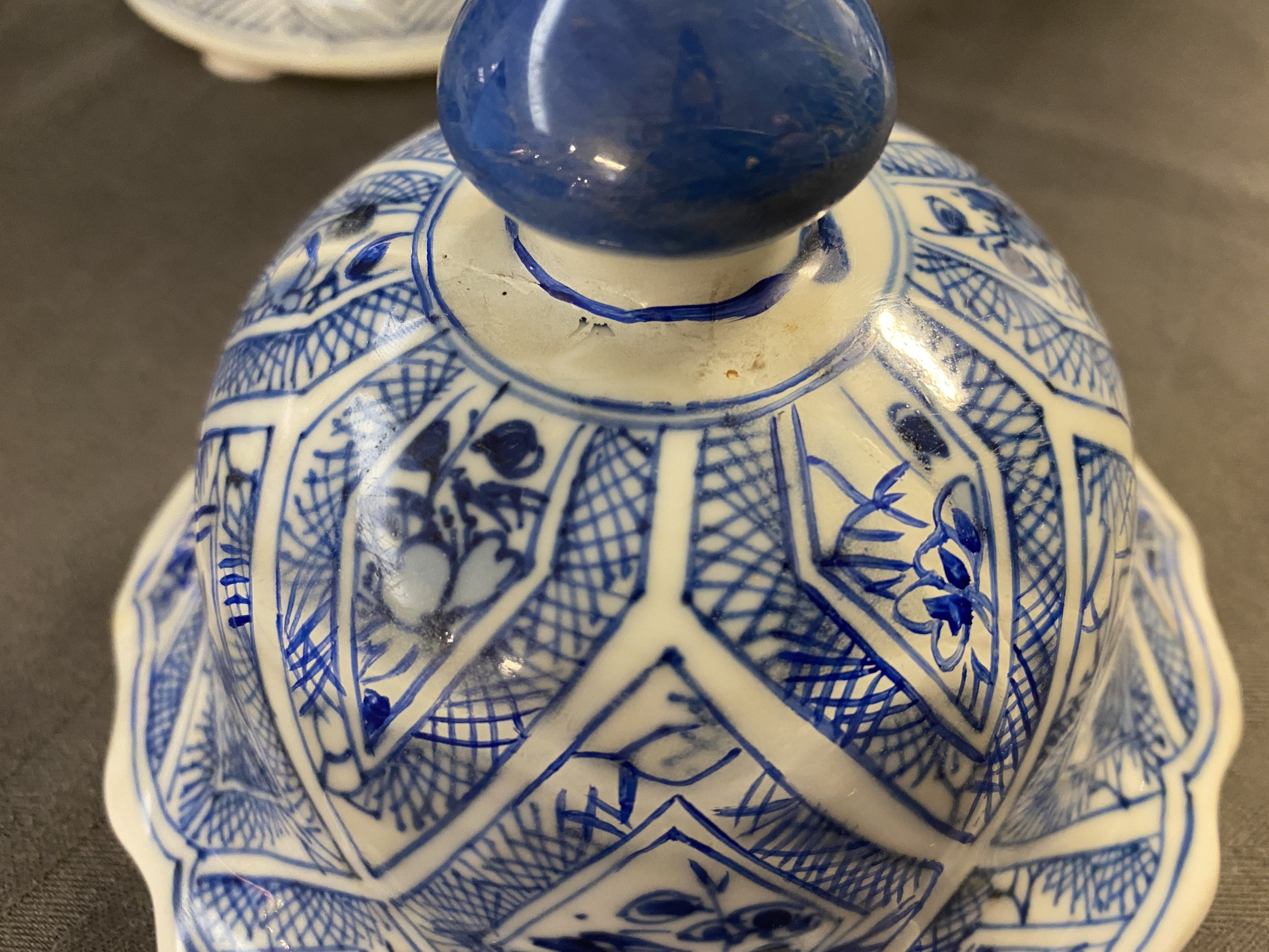 A large Chinese blue and white five-piece garniture with floral and landscape panels, Kangxi - Image 17 of 66