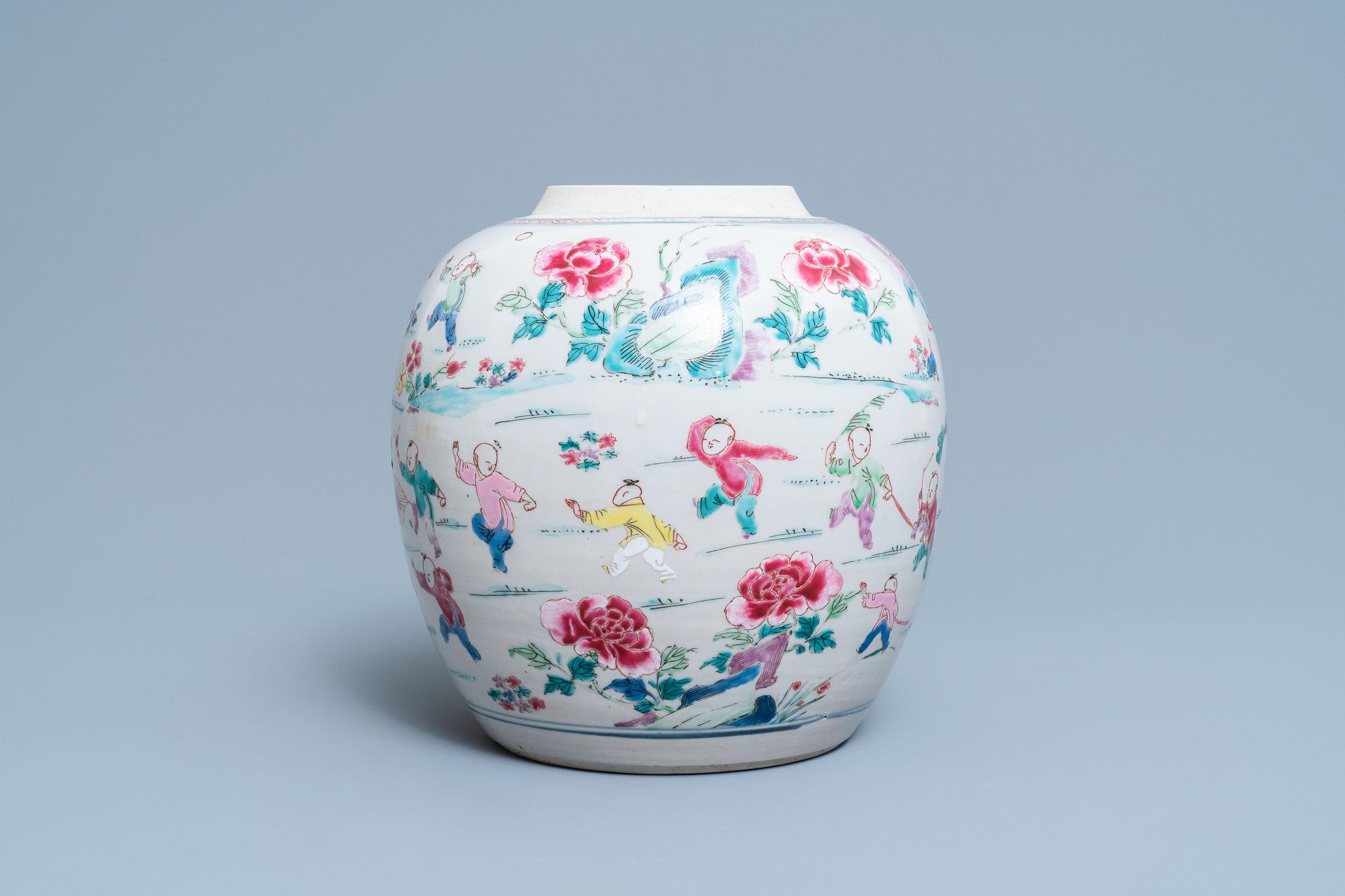 A Chinese famille rose 'hundred boys' jar, Yongzheng - Image 2 of 17