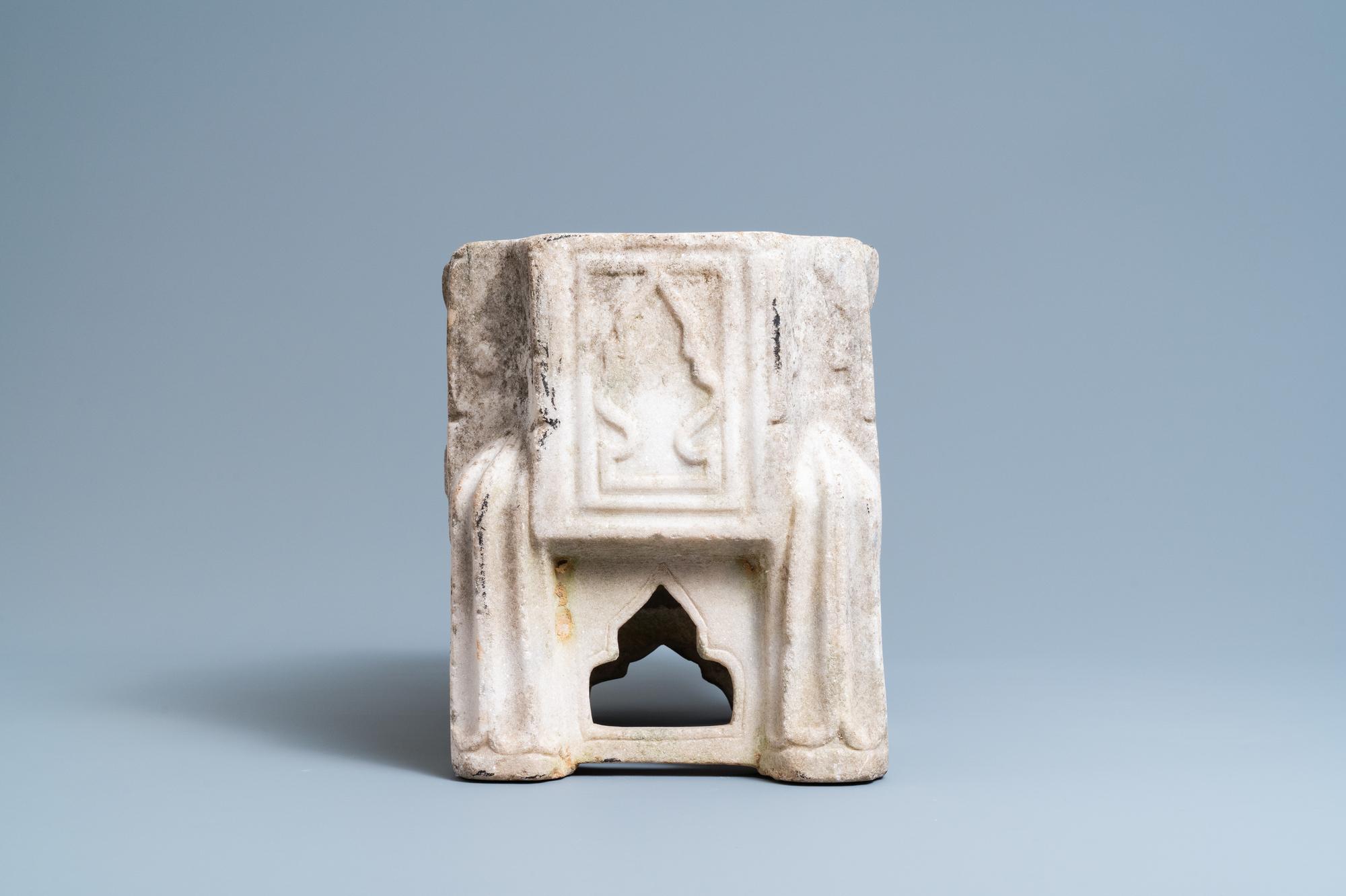 A Fatimid marble kilga, Egypt, 11/12th C. - Image 3 of 7