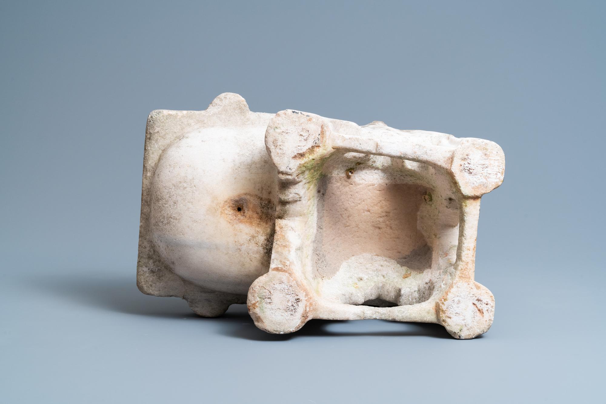 A Fatimid marble kilga, Egypt, 11/12th C. - Image 7 of 7