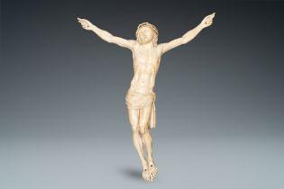 A large ivory Corpus Christi, probably France, 19th C.