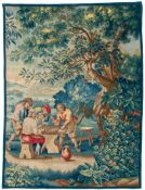 A wool and silk 'Backgammon' wall tapestry after David Teniers, Guillaume Werniers workshop, Lille,