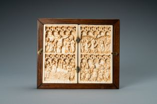 An ivory diptych, Germany, 14th C.